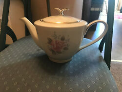 Vintage Noritake Roseville Teapot With Lid And Gilded