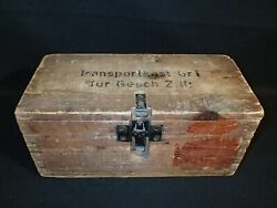 Ww2 Wooden Transportkast Transport Box Size 1 Projectile French Case Crate Rare