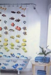New School Fish Print Chloride-free Peva Shower Curtain By Mainstays New
