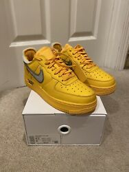 Nike Air Force 1 Low Off White University Gold Lemonade Size 6.5 | Confirmed