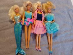 Barbie Dolls -1980s-set Of 4 Gorgeous Barbies In Beautiful Outfits-excellent Con