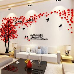 Huge Family Tree Wall Stickers Birds Photo Frame Quotes Art Decals Home Decor