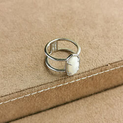 Kendra Scott Elyse / Ring Silver White Pearl New Size 6