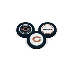 Team Golf 3 Units Chicago Bears Poker Chips With Magnetic Ball Marker 2 Sides