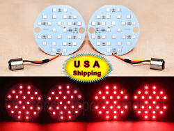 For Harley Touring Softail 1157 Led Daytime Turn Signal Panel Light Drl Bulb Red