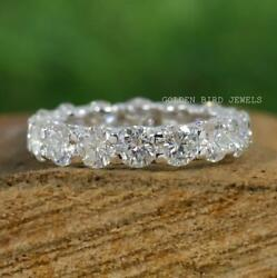 4.00 Mm Round Moissanite Wedding Band / 18k Solid Gold Matching Womenand039s Band