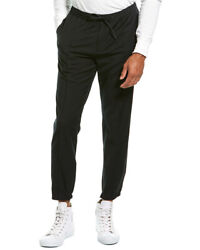 Theory Luxe Sartorial Suiting Wool-blend Jogger Men's Black Xxl