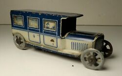 Vintage George Fischer Tin Litho Penny Toy Sedan Touring Car 4 1/2 L
