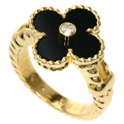 And Ring Vintage Onyx K18 Yellow Gold
