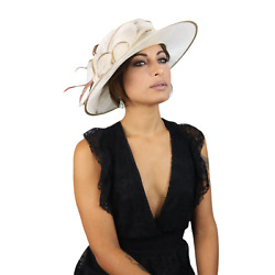 Fascinator Hat Straw Sinamay Occasion Hat Feather Set Wedding Festive Party