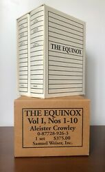 Aleister Crowley Equinox Volume I / 1-10 Complete Weiser Sex Magick Rare Occult