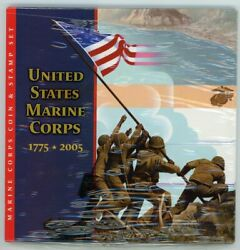 2005 Marine Corps Coin And Stamp Set U.s. Mint