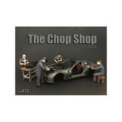 Chop Shop 4 Piece Figurine Set For 1/24 Scale Models By American Diorama 3825...