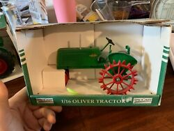 Oliver Row Crop 60 Toy Tractor Collectors Edition Red Steel Wheels