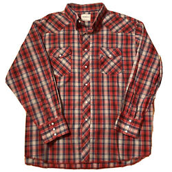 Pendleton Frontier Menandrsquos Xxl 2xl Or 3xl Long Sleeve Shirt Western Pearl Snap