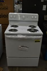 Hotpoint Rbs160dmww 30 White Freestanding 4 Coil Electric Range Nob 113077