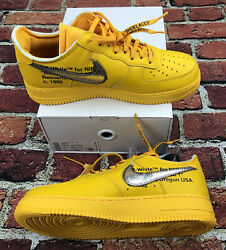 Af1 Nike Air Force 1 Low Off White Gold Dd1876-700 Sneakers Mens Sz 11.5 Shoes