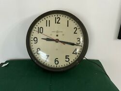 Vintage General Electric Wall Clock - Telechorn - Size W/frame 15 -works Good