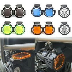 Auxiliary Fog Light Protector Guard Lamp Cover For BMW R1200gs F800gs R1250gs