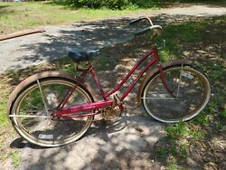Vintage Hard To Find Murray Monterey Bicycle Needs Tires Most All Original.