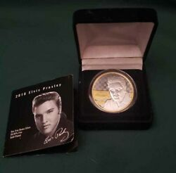 Elvis Presley Epe 2018 Silver Coin 1 Oz .9999 Gold Plate Rarity