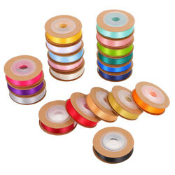 20 Rolls Durable Double-sided Colorful Ribbon For Children Women