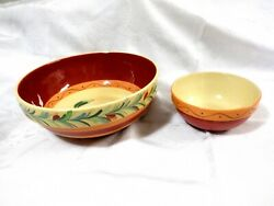 2 X Gail Pittman Southern Living At Home Siena Large Serving Chips And Salsa Bowls