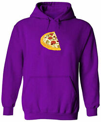 Funny Pizza Half Hoodie Sweater Pullover Mens Unisex Hooded Gift Piece Pizza