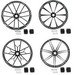 26and039and039x3.5and039and039 Front Wheel Rim Wheel Hub Dual Disc Fit For Harley Street Glide 08-21