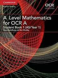 Level Mathematics For Ocr A As/year 1 Paperback By Kadelburg Vesna Wool...