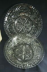 Beo Vintage Clear Patterned Glass 10-1/2 Bowl And 13 Platter