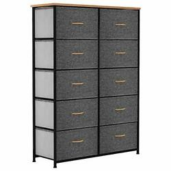 Yitahome 10 Drawer Dresser - Fabric Storage Tower, Organizer Unit For Bedroom, L