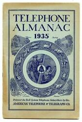 American Telephone And Telegraph Almanac 1935 Printed For Bell System Subscribers