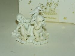 Dept 56 Snowbabies 'you Can't Find Me' Christmas Mib 7637-6 Pewter Miniature