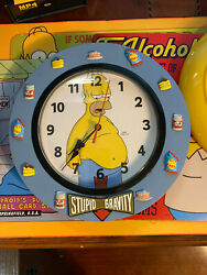 The Simpsons Stupid Gravity Clock With Homer - Resin From 2003