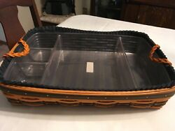 Longaberger 1999 Collector's Club Hostess Serving Tray 2 Liners And 2 Protectors