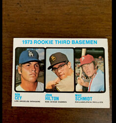 1973 Topps Mike Schmidt Rookie Card 615 Hall Of Fame Phila. Phillies Ron Cey
