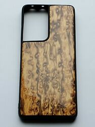 Wood Phone Case Samsung Galaxy S21-ultra 5g. Carved From Birdand039s-eye Zebrawood