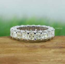 4 Mm Princess Cut Yellow And Colorless Moissanite Band / Round Moissanite Band