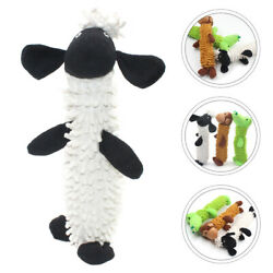 Cartoon Dog Plush Toy Interactive Dog Toy Durable Chewing Toy