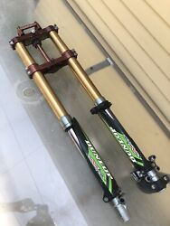 Works Pro Circuit A-kit Kawasaki Kx85 Kx100 Front Fork Suspension And Clamp