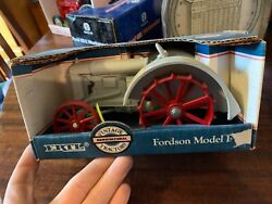Fordson Model F Toy Tractor Red Steel Wheels