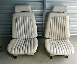 🔥 1969-1972 Chevelle Gto 442 Gs Bucket Seats Headrests Frames Tracks Complete