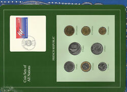 Coin Sets Of All Nations France French 1981 -1990 Unc 2 Francs 1981 5 Fr Eiffel