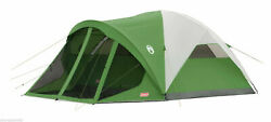 Coleman Screened 6-person Evanston Tent Weathertec System 14and039 X 10and039 Family Dome