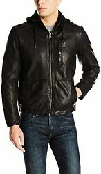Cole Haan Menand039s Washed Lamb Leather Moto Jacket - Choose Sz+color
