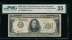 Ac 1934 500 Five Hundred Dollar Bill Cleveland Lgs Pmg 35 Comment