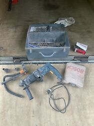 Bosch Bulldog Rotary Hammer Drill 11221 Dvs With Dust Containment System And Bit