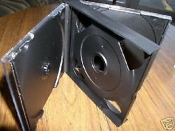 1 New 24mm Chubby 2 Double Cd Jewel Cases W/black Tray Sf19 Free Usps Shipping