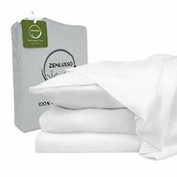 Zenlusso Bamboo Sheets King Size - 100 Organic Assorted Colors Sizes
